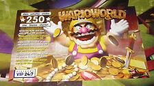 NINTENDO VIP 24:7 Club Nintendo Insert Point Card - Wario World - 2003