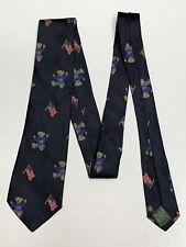 Polo Ralph Lauren Navy Blue Red Teddy Bear American Flag  Silk Necktie Kids Boys