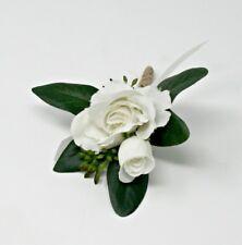 White Flower Boutonniere, Wedding Accessories, Prom