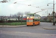 PHOTO  1966 BRITISH TROLLEYBUSES GLASGOW TAY CRESCENT RIDDRIE. THIS WAS AN INTER
