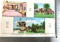 Vintage Postcard Crescent Lake Motel Courts Unposted