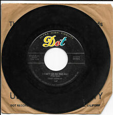 JIMMY NEWMAN: A Fallen Star / I Can't Go On This Way 45 Country VG