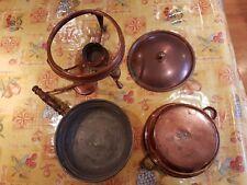 Vintage Solid Copper Fondue Set