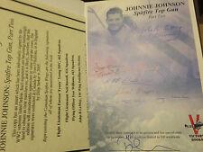 JOHNNIE JOHNSON SPITFIRE TOP GUN PART 2 SIGNED DILIP SARKER MBE & WAR VERTERANS