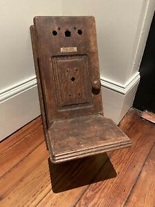 Antique Oak Telephone Ringer Box with Writing Surface