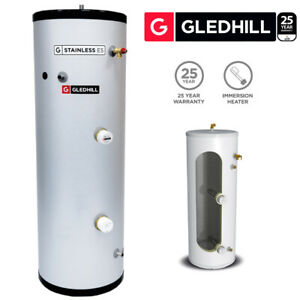Gledhill ES 150L Direct Unvented Hot Water Cylinder Stainless Steel