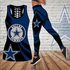 Dallas Cowboys 2PCS Tank Top Leggings Women's High Waist Butt Lift Yoga Pants