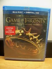 NEW GENUINE HBO BLU RAY+ DIGITAL GAME OF THRONES SECOND SEASON 2 FREE 1STCLS S&H