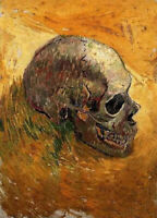Oil painting Vincent Van Gogh - skull still life hand painted in oil on canvas