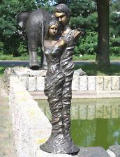 Bronzeskulptur, Liebespaar, Mann und Frau, Dekoration für Haus und Garten