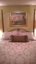 Martex Atelier-King-Duvet Cover, King Pillow Shams & Bed skirt Italian Damask