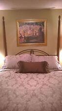Martex Atelier King Duvet Cover King Pillow Shams Bed skirt Italian Damask SET