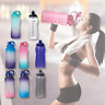 64OZ Water Bottle with Motivational Time Marker & Straw - Leakproof BPA Free,Gym