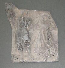 Antique Printing Block Zinc Plate - Bavarian Costume Dancers