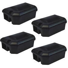 4 X PROFESSIONAL RODENT BAIT STATION BOX ONLY -NO TRAP Block Bait Rat Mouse Mice