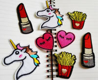2X Cartoon Heart Embroidery Iron on Patch Sewing Applique DIY Motif Craft