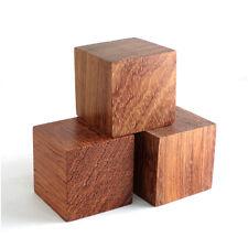 Audiophile Wood Blocks 48mm Turntable Amp Speaker Isolation Feet Stand Set of 3
