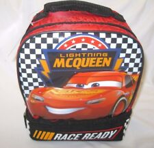 Cars Lightning McQueen Dome Dual Compartment Insulated Lunch Bag Lunchbox-New!