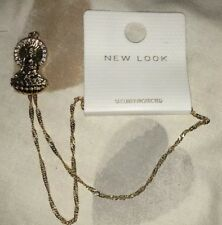 New Look Gold Religous Mary Pendant Necklace
