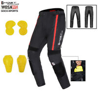 Riding Motorcycle Pants Motorbike Trousers Armours Mens+Removed Knee Hip Pads