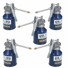 250ml Oil Lubricant Metal Can With Rigid Spout Thumb Pump Trigger Action 5 Pack