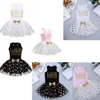 Baby flower Girl Dress Princess Lace Tulle Bridesmaid Gown Formal Party Dresses