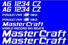 MasterCraft Prostar 190 Full set #3 w/Matching Boat Registration Numbers