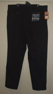 mr big black mens chino pants black 44 ' waist 112cm   relaxed fit pockets