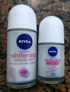1Pc Nivea Deodorant Whitening Smooth Skin Even Toned & Underarms-50ml Free Ship