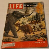 October 19, 1953 LIFE Magazine Age of Mammals FREE SHIPPING Oct 10 20 21 22 23