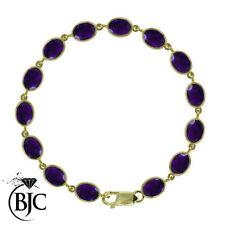 Tennis Amethyst Yellow Gold Fine Bracelets