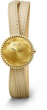 ELLE Watch W1232 FACET  Collection Steel Champagne Dial & Tan Leather Strap