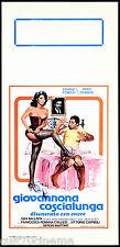 GIOVANNONA COSCIALUNGA DISONORATA CON ONORE LOCANDINA CINEMA FENECH SEXY 1973