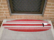 SurfBoard Profile Red Natural Coir on PVC Backing Door Mat / Wall Art