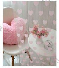 Rideaux et cantonnières roses sans marque pour le salon