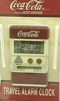 Coca Cola Retro Dispenser Quartz LCD ALARM CLOCK Snooze Flip Stand No.4516C NIP
