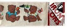 Bears and Butterflies Dimensional Design IRON ONS ~ ByTrans-Easy
