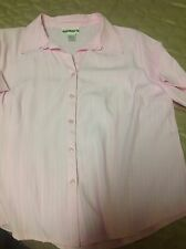 Woman's Pink Size 18 Short Sleeve Blouse