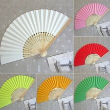 New Chinese Hand Held Fan Bamboo Silk Folding Fan Party Wedding Decor Paper SH