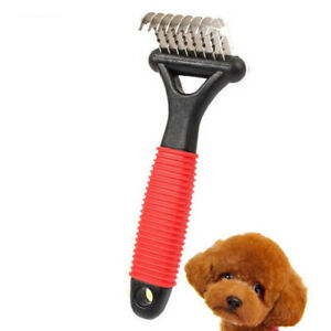 Pet Cat Dog Grooming Comb Hair Brush Shedding Trimmer Supplies BL
