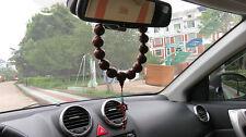 30mm Red Sandalwood Tibet Buddhism 18+1 Prayer Beads MALA (Car Adornment)
