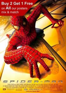 Spiderman 2002 Movie Poster A5 A4 A3 A2 A1