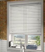 Window Blinds For Home Office High Quality PVC Venetian Blind White 120 x 150cm