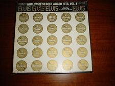 ELVIS PRESLEY * WORLDWIDE 50 GOLD AWARD HITS * VOL 1 & PHOTO BOOK * 4 LP'S  MONO