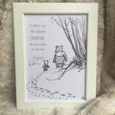 PERSONALISED Winnie the Pooh FRAMED PRINT, New Baby/Birth, Picture, Bear, Quote