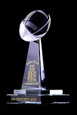 49ers crystal superbowl trophy