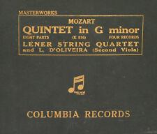 LENER STRING QUARTET & D'OLIVEIRA Mozart: Quintet in G Minor K.516    78RPM A293