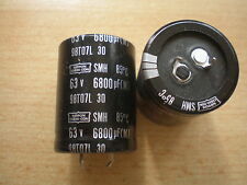6800UF 63V   Snap in capacitor Nippon Chemicon    2 pieces per order     Z941