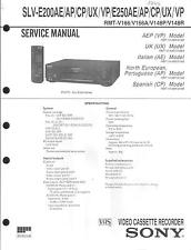 Sony Original Service Manual per VHS VIDEO SLV-e 200 AE/AP/VP/UX SLV-e 250 AE/AP
