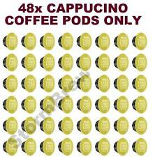 48x NESCAFE DOLCE GUSTO CAPPUCCINO COFFEE ONLY PODS (NO MILK CAPSULES)